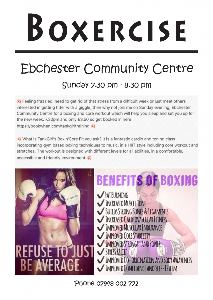Boxercise Poster A4 2017