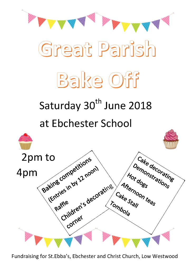 Bake Off Poster 2018 June