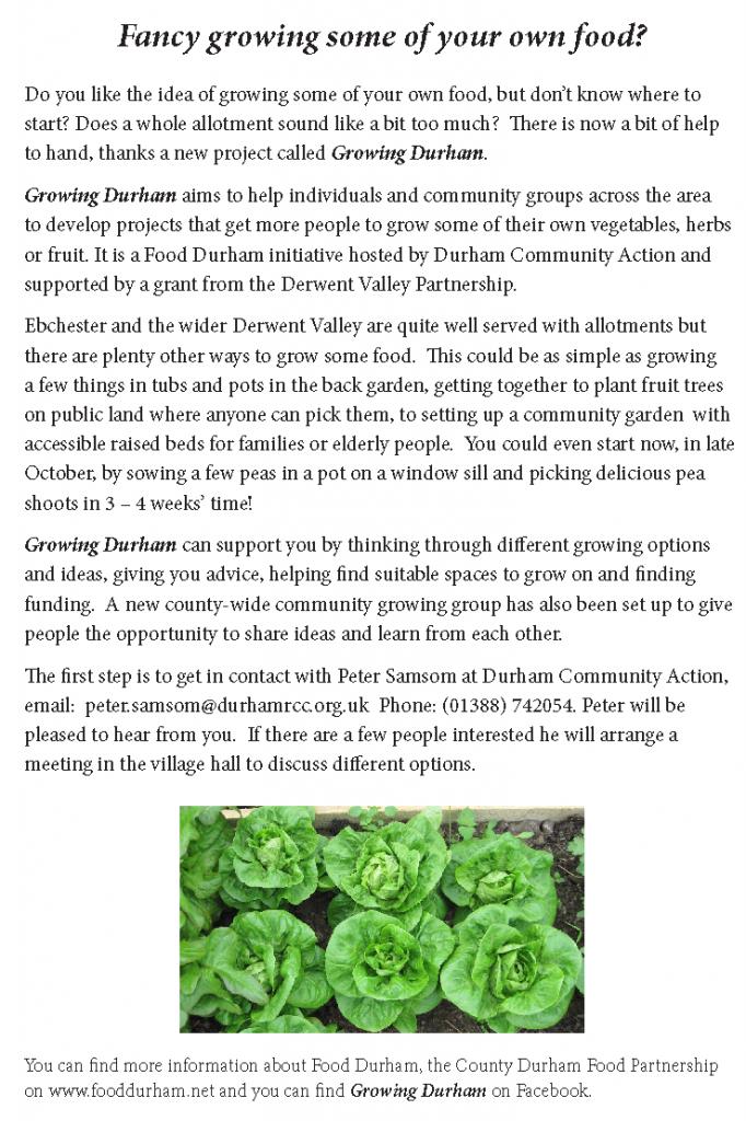 Growing Durham